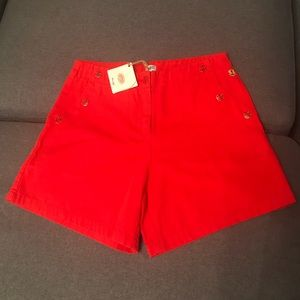 Armor Lux NWT Red Sailor Shorts
